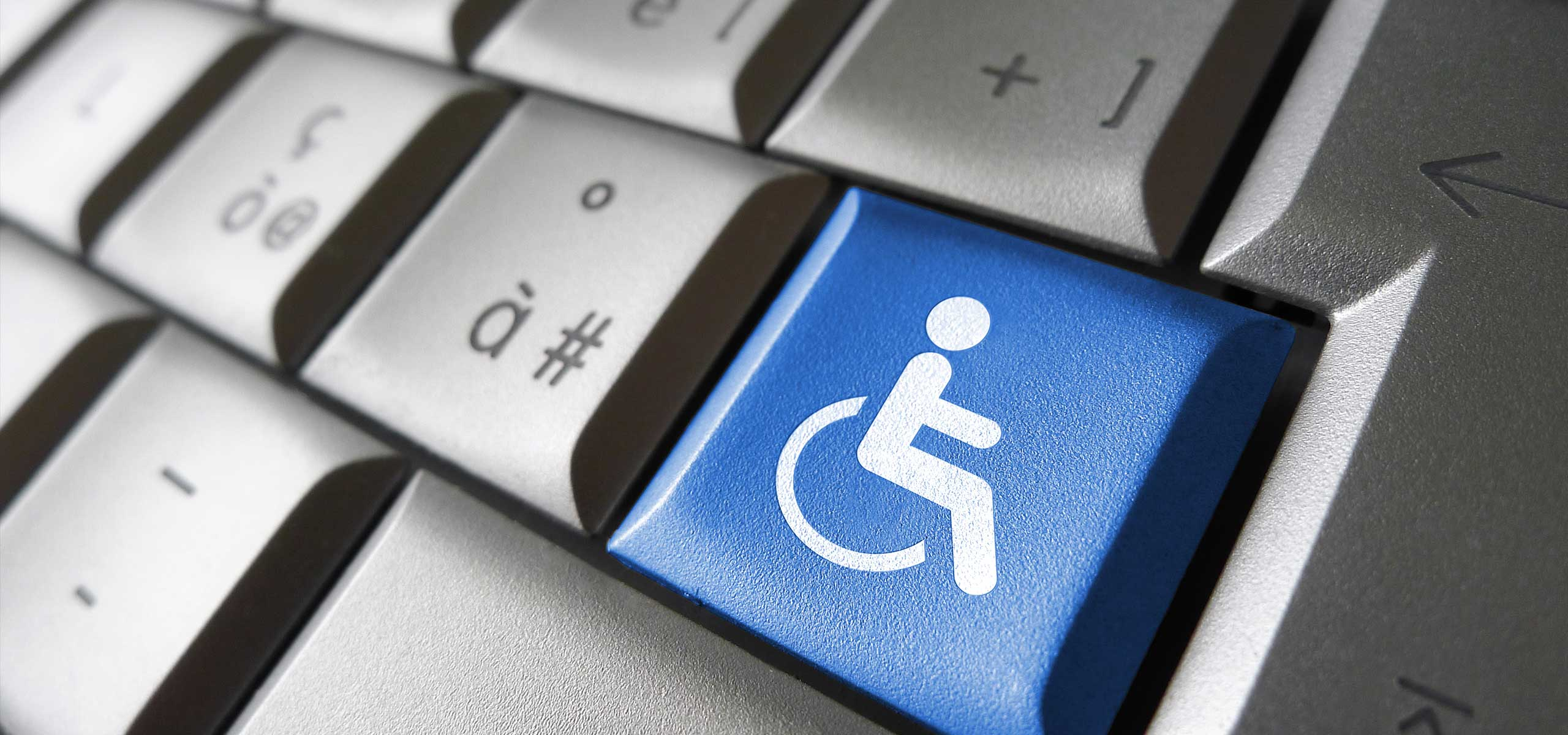 Web Accessibility Icon on Keyboard